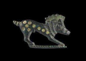 Romano-British Bronze Boar Plate Brooch