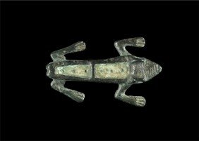 Romano-British Bronze Frog Plate Brooch
