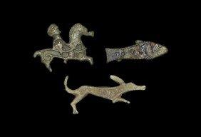 Romano-British Animal Plate Brooch Group