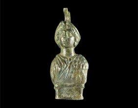Roman Bronze Figural Chariot Terret
