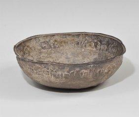Silver Repousse Figural Bowl