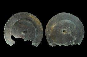 Roman Bronze Shield Plaque Group
