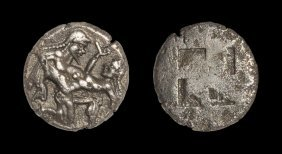 Greek Thasos - Satyr And Nymph - Stater