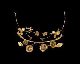 Greek Hellenistic Gold Floral Wreath
