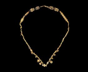 Egyptian Mixed Period Gold Bead Necklace