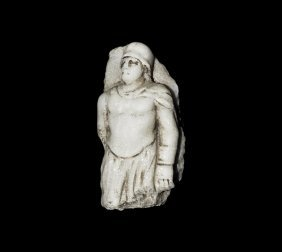 Roman Helmetted Soldier Panel Fragment