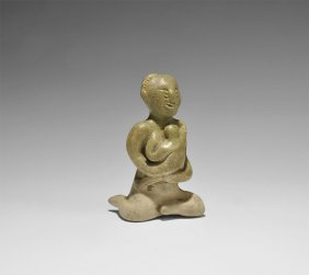 Thai Mother And Child Figurine
