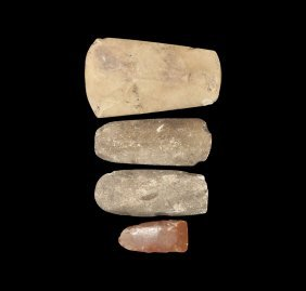 Stone Age Axehead And Gouge Group