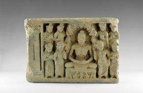 Gandharan Panel With Skeletal Buddha