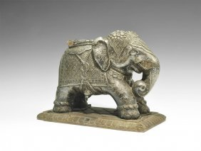 Indian Elephant Statuette