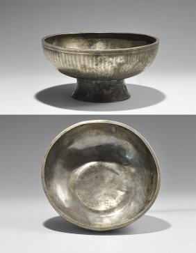 Western Asiatic Sassanian Footed Bowl