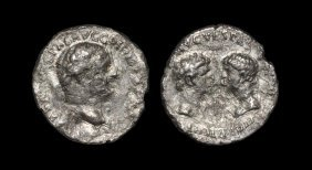 Ancient Roman Imperial Coins - Vespasian - Titus And