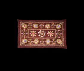 Ethnograhic Central Asian Embroidered Textile