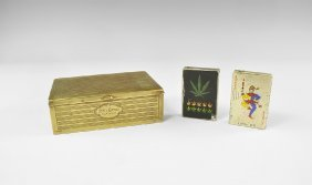 Vintage State Express Cigarette Box And Lighters Group