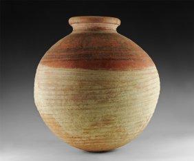 Etruscan Monumental Polychrome Vessel