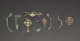 Iron Age Celtic To Roman Brooch Group