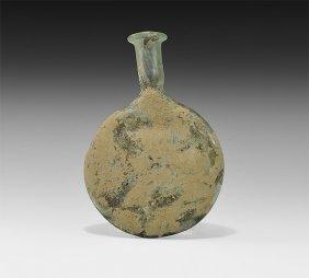Roman Iridescent Pilgrim Flask