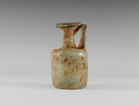 Roman Pale Green Cylindrical Bottle