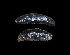 Stone Age Knapped Knife Blade Pair