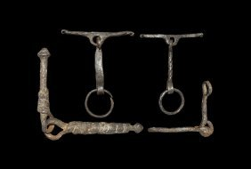 Saxon Horse Bit And Bridle Fitting Group