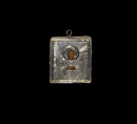 Post Medieval Russian Baptismal Icon With Guardian