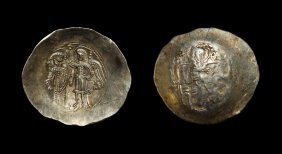 Ancient Byzantine Coins - Isaac Ii - Electrum Aspron