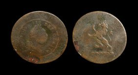 English Tokens - George Iii - Undated - Portrait/lion