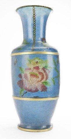 Chinese Crystal Cloisonne Vase
