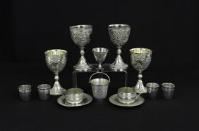 Collection Of Assorted Small Silver Plated Cups