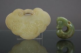 Two Chinese Small Jade Carvings