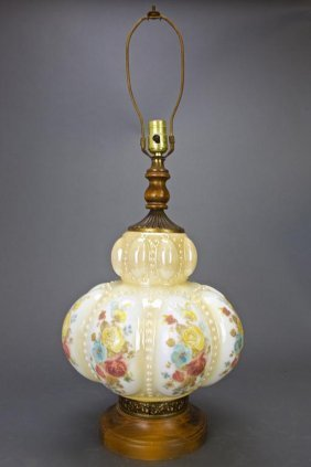 Glass And Giltbronze Lamp