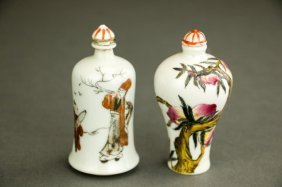 Pair Of Chinese Porcelain Snuff Bottles