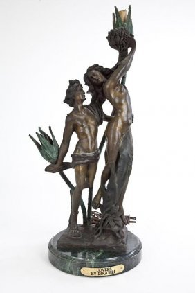 Bronze Lamp Of Lovers