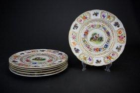 Six Rosenthal Bavaria Dinner Plates