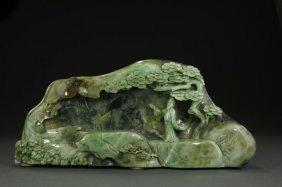 Chinese Carved Jade Boulder