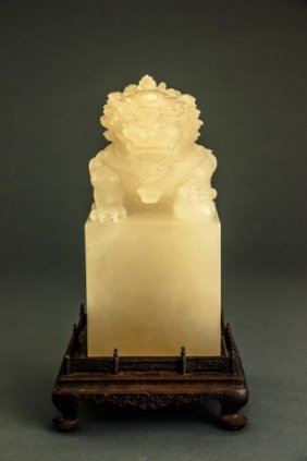 Unusual Large Chinese Carved Soapstone Seal
