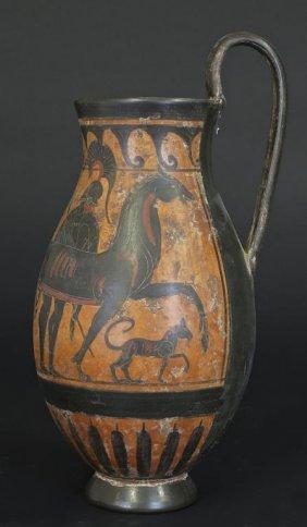 Antique Greek Black-figure Oinochoe