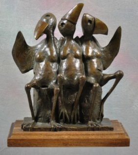 "Walter Palmer Bronze Sculpture ""The Girls"""