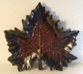 "Van Briggle Maple Leaf Candy Dish, ""Anna Van"""