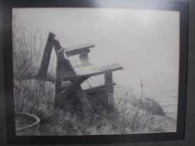 Jack Vallee, Pencil Drawing Graphite On Paper