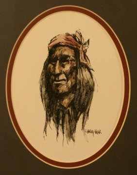 Charley Bear, Original Portrait,