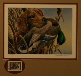 Thombrugh, Duck Stamp, Limited Edition Print,