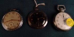 Set Of 3 Pocket Watches,