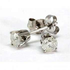 0.25 Ctw Round Cut Diamond Stud Earrings, G-H, SI-I