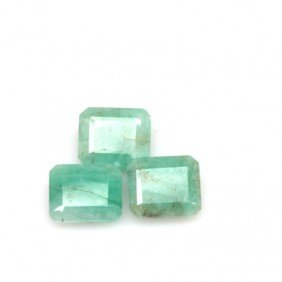 Natural 23.01ctw Emerald Emerald Cut (3) Stone