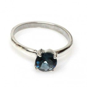 Natural 1.75ctw London Blue Topaz .925 Sterling Ring