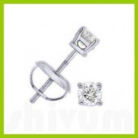 0.25 Ctw Round Cut Diamond Stud Earrings G-H, SI-2