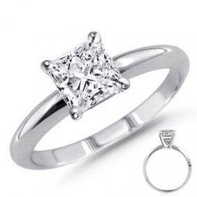0.25 Ct 14K White Gold Princess Cut Ring G-H VS