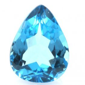 12.79ctw Blue Topaz Pear Shape Semi-Precious Stone