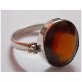 Natural 20.95 Ctw Semi-Precious Round Ring 925 Sterling